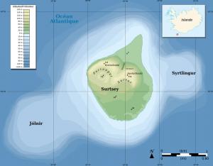 Map of Surtsey Island