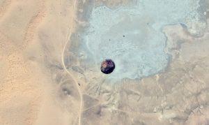Space view of Door To Hell